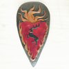 Polyresin battle shield wall plaque collectible stag battle sheild