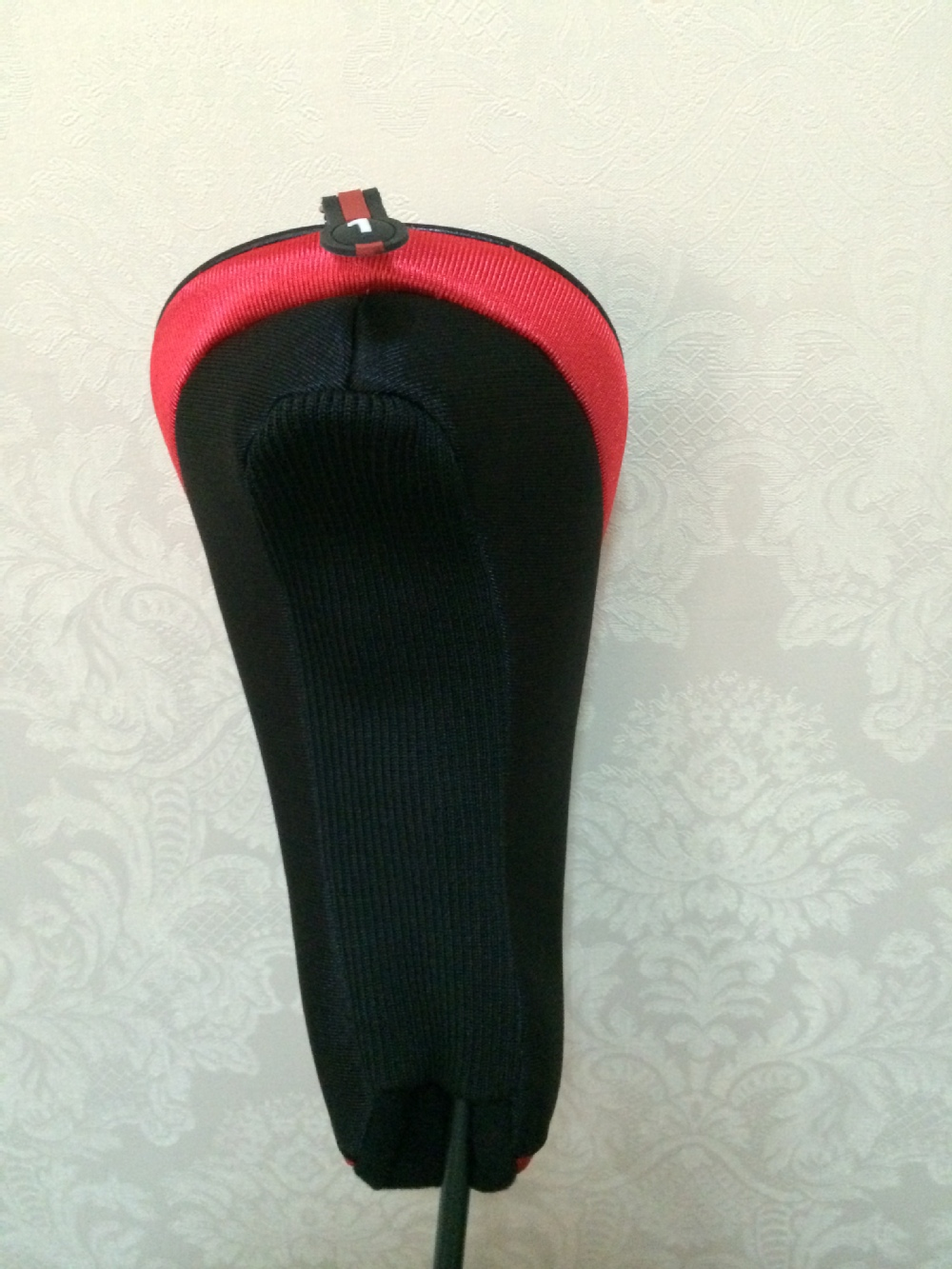 Newest design classic black red golf head cover