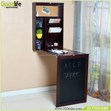 Wood wall mounted cabinet for writing and reading stand desk study table