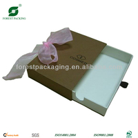 PAPER TRINKET BOX WITH COLOR RIBBON