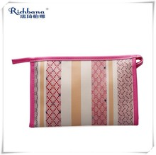 Richbana 2016 wholesale custom popular women's fashion travel printed toiletry bag with mirror