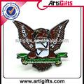 diseño personalizado de metal eagle pernos de la solapa insignia