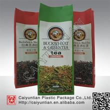 Hot seal plastic tea packaging bags,flat bottom packaging tea bag