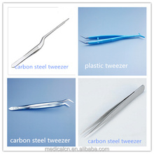 Disposable Plastic and Stainless Steel Medical Tweezers