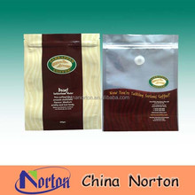 aluminum foil coffee pouch/coffee bean zip lock bags with best price NTP- ALF123B