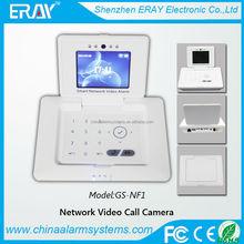 2014 network alarm system free telephone bill video recording built-in hiding camera motion sensor
