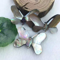 Mother of pearl Hot seller natural black mother of pearl butterfly jewelry pearl jewelry butterfly jewelry