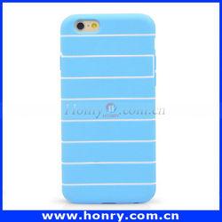 Cheap Price Stripe TPU Mobile Phone Case For IPHONE 6,TPU phone cover case