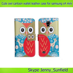 super slim cute own flip wallet leather case for samsung galaxy s4 mini i9190 , for samsung galaxy s4 mini case leather