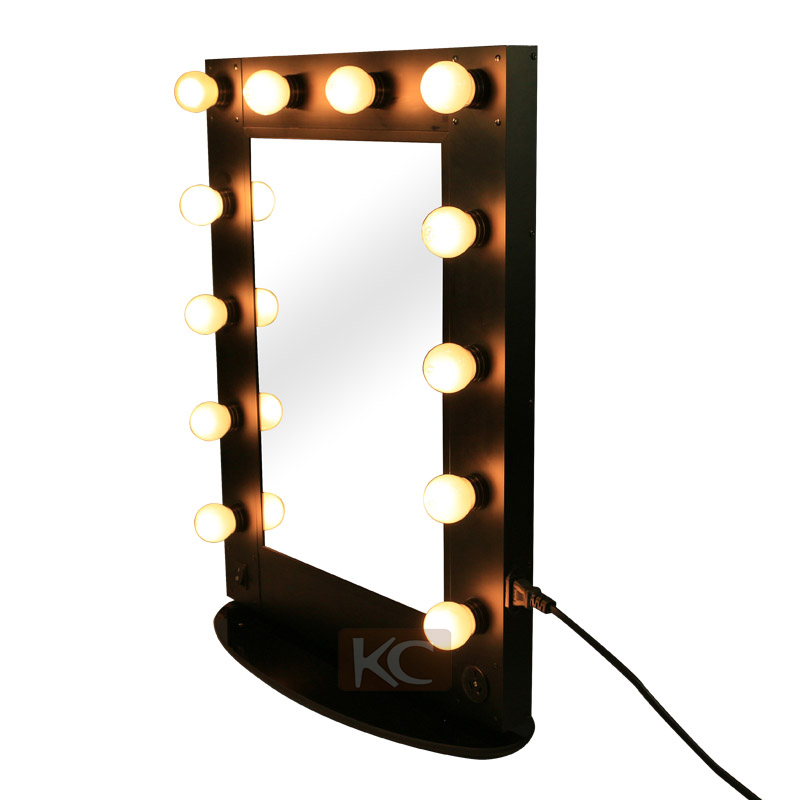 Atacado barato vaidade menina melhor maquiagem espelho iluminado, espelho iluminado com luz led de hollywood