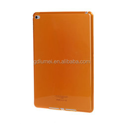 Ultra slim colorful semi-transperant flexible TPU protective translucent jelly gel shell case silicone cover for iPad air 2