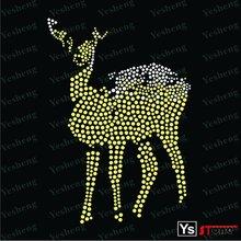 A7008 2012 animal rhinestone motif