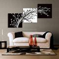 moderno em preto e branco de lona pinturas de flores