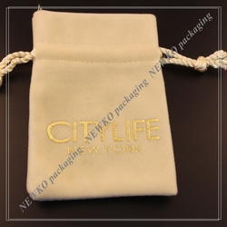 2015 Promotional gift velvet pouch with OEM