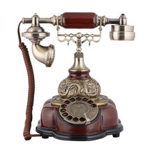 High-grade wooden Antique Telephone Europe Type Restoring Ancient Ways Machine Old Villa Home decor