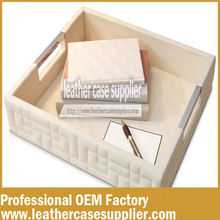 High-Quality New Design Popular PU Leather Tray