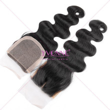 New arrival brazilian virgin hair lace closure wholesale middle part silk base closure