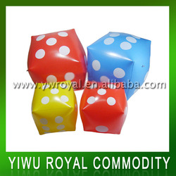 Wholesale Kids Plastic Dice Inflatable Floating Cube