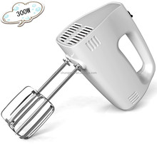 2015 hot selling electric 300W plastic white mini hand mixer For Kitchen
