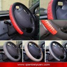 Unique genuine leather steering wheel cover