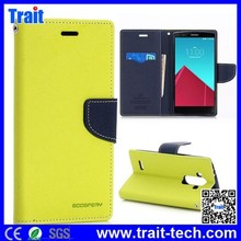 Brand New Mercury Flip Stand TPU PU Leather Case for LG G4 F500/H810/VS999 with Card Slots