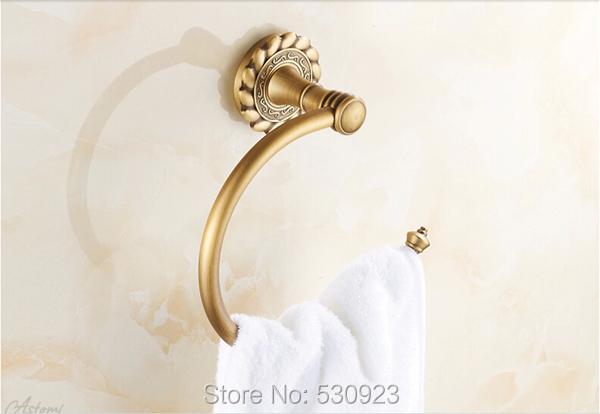 Купить Недавно США Бесплатная Доставка Традиционный Античная Латунь Ванной Полотенце Кольца Вешалка Для Полотенец Полотенцедержатель Полка Настенная