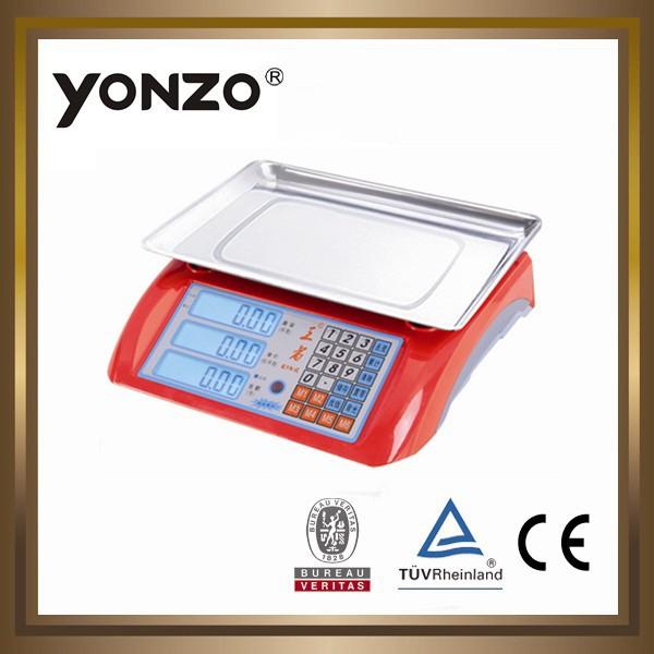 Yz-986 mới abs, nhiều màu sắc nhà ở điện tử kỹ thuật số giá tính toán quy mô pallet
