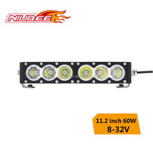 60w ip68 cree led driving light bar for car
