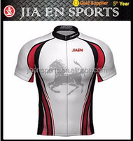 China made customized men's good cycling jersey shirt short with polyester