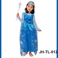 Alibaba halloween snowflake organza for frozen elsa costume