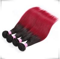 High Quality 18inch Ombre 1B BUG remy virgin brazilian human hair weaving