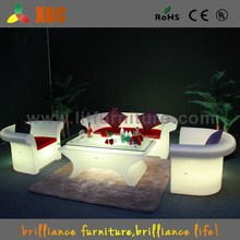 2015 new LED furniture PE material plastic chair and tables luminous coffee chair and table