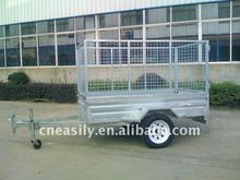 Cargo cage trailer with tipping