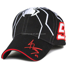 2015 most fashionable top quality custom cotton twill 3D embroidered racing caps