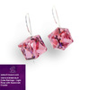 Alibaba Express 925 Fashionable Jewelry Light Pink Color Wild Heart Earrings with Swarovski Crystal V5010-KW48418LR