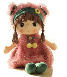 Hot Selling Plush Toys Cute Little Girl Doll China Supplier Wholesale