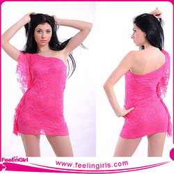 Wholesale Sexy Tight Pink Dresses Evening