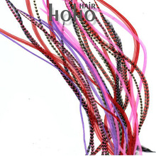2013 top selling 7- 11inch nature and multi color real grizzly rooster feather extensions wholesale usa