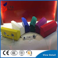 Colors durable plastic curbs stone led lighting