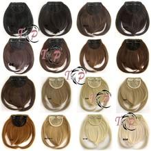 New Stock wholesale hot selling100 natural human hair bangs / human hair fringe / clip natural hair bangs