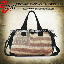 2012 New Europe and America fashion the American aflag canvas bag