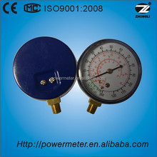 Colour blue case High stability freon refrigeration pressure gauge with CE certificate