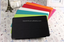 Folding kickstand protective tablet cover case with transparent back shell for iPad Mini(fluorescence green)