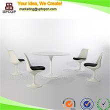 (SP-CT393) Noble eero saarinen modern round marble dining table set for sale