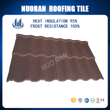 ISO Certificated stone coated metal roof shingle/sand coated decorative metal roof tile