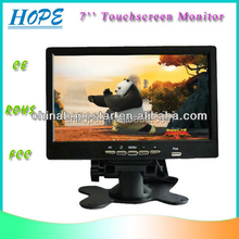 """7"""" LCD resistance touchscreen monitor with DVI/USB/Speaker option"""
