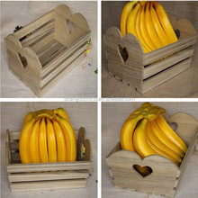 Natural unfinished lightweight wooden fruit crates for sale