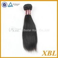 XBL soft and smooth natural 10 inch virgin brazilian straight hair weft