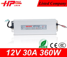 2 years warranty CE RoHS approved constant voltage single output 360W 12v high voltage programmable dc power supply