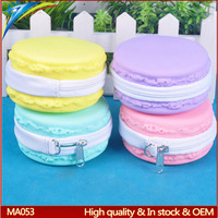 Hot selling silicone macaron purse fortune cookie coin zip purse Promotion gift